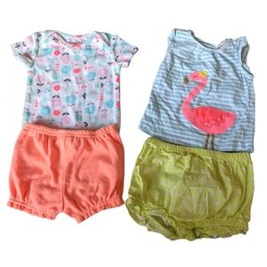 Flower and Flamingo outfit bundle